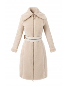 Elisabetta Franchi sheepskin coat made of faux fur