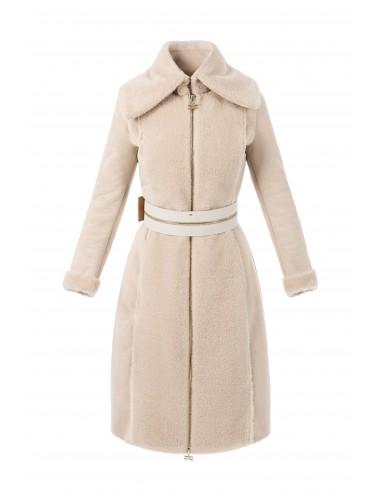 Elisabetta Franchi sheepskin coat made of faux fur