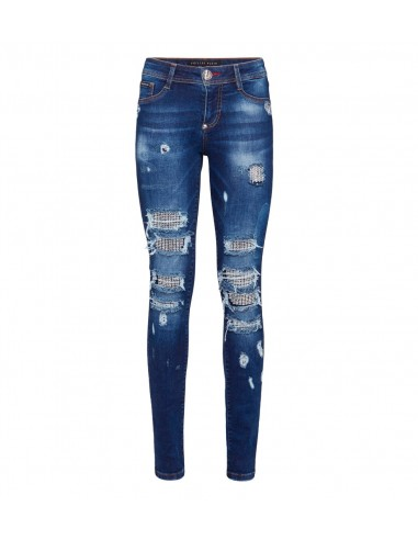 Philipp Plein Jeggings - Doux jeans dragon chez altamoda.shop - F18C WDT0732 PDE004N