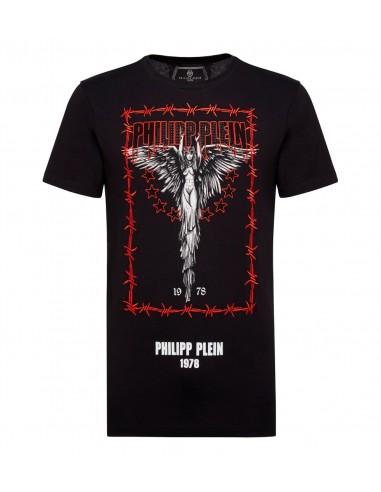 T-Shirt Philipp Plein Le serpent à cristaux chez altamoda.shop - A18C MTK2761 PJY002N