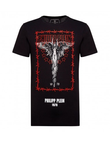 Philipp Plein T-Shirt The Snake with Crystals at altamoda.shop - A18C MTK2761 PJY002N