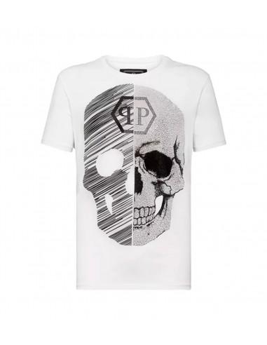 T-Shirt Schädel 50% Abstrakt