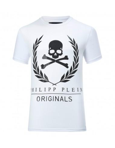 T-shirt Philipp Plein d'or gagnant chez altamoda.shop - P17C MTK0240 PJY002N
