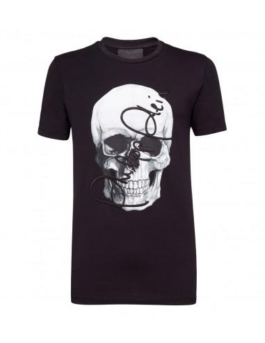 Philipp Plein T-Shirt Gesigneerde Schedel bij altamoda.shop - F18C MTK2480 PJY002N