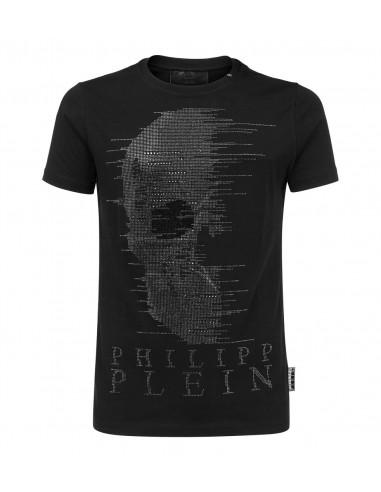 Philipp Plein T-Shirt Geister-Schädel bei altamoda.shop - S18C MTK1857 PJY002N