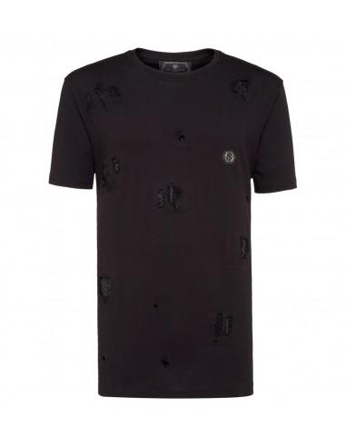 Philipp Plein T-Shirt Kristallflecken auf altamoda.shop - A18C MTK2802 PJY002N