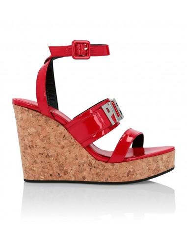 Sandales à semelles compensées avec...