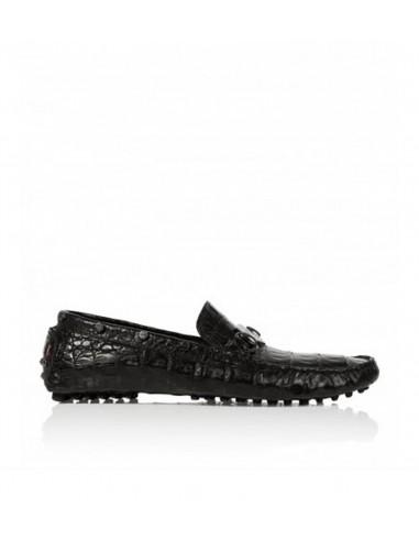 Philipp Plein Moccasins Cuir de crocodile chez altamoda.shop - SS15SM075727c