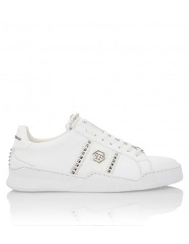 Philipp Plein Low Top Sneakers com Pinos em altamoda.shop