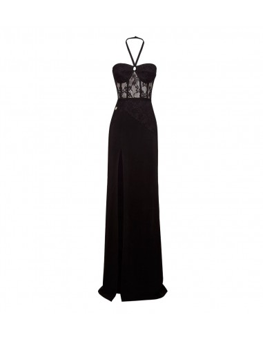 Philipp Plein Long Dress Lace Dress at altamoda.shop