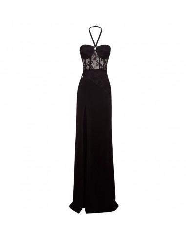 Vestido largo de Philipp Plein Vestido de encaje en altamoda.shop