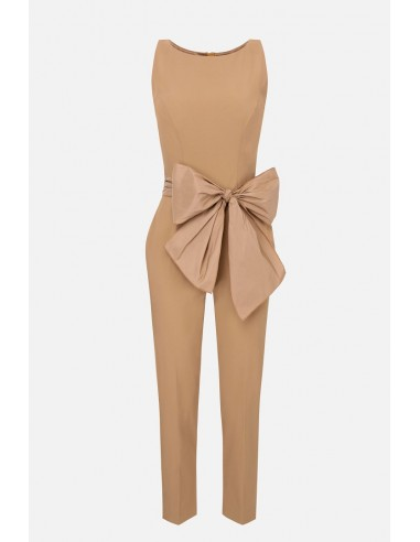 Elisabetta Franchi One-piece jumpsuit with bow - altamoda.shop - TU24906E2