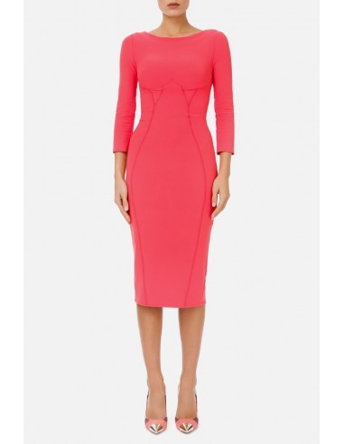 Pencil dress with 3/4 sleeves