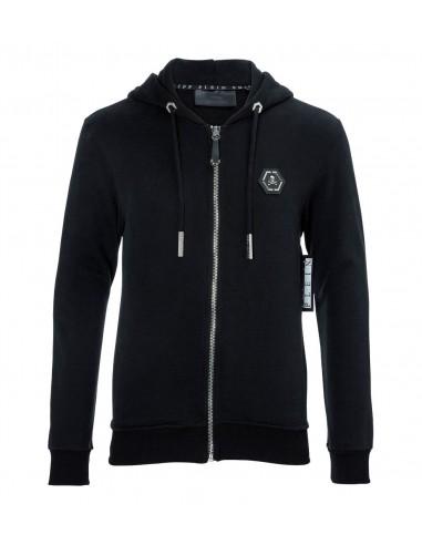 Philipp Plein Hoodie Sweat Jacket Strass America at altamoda.shop - A17C MJB0252 PJO002N