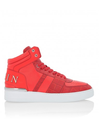 Philipp Plein Mid-Top Sneakers with Croco Print at altamoda.shop - A18S MSC1641 PLE035N