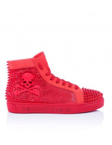 Philipp Plein Hi-Top Sneakers with Rivets and Crystals at altamoda.shop - P18S MSC1238 PLE009N