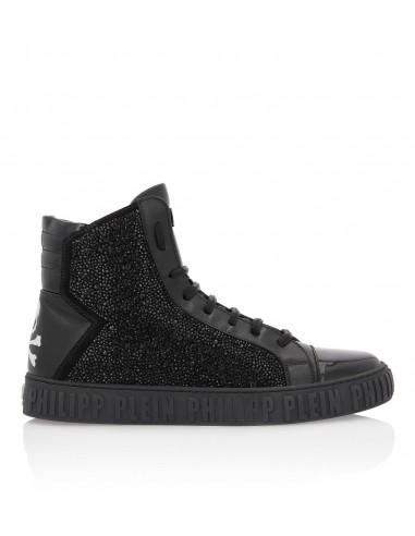 Philipp Plein Hi-Top Sneakers with Crystals at altamoda.shop - A18S MSC1676 PLE022N