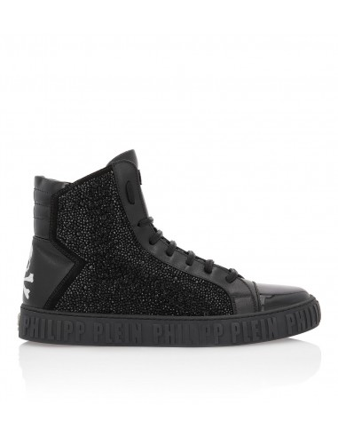 Philipp Plein Hi-Top Sneakers com cristais em altamoda.shop - A18S MSC1676 PLE022N