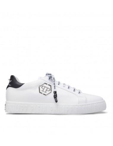Philipp Plein Lo-Top Sneakers Simples com Caveira em altamoda.shop - S19S MSC2008 PLE006N