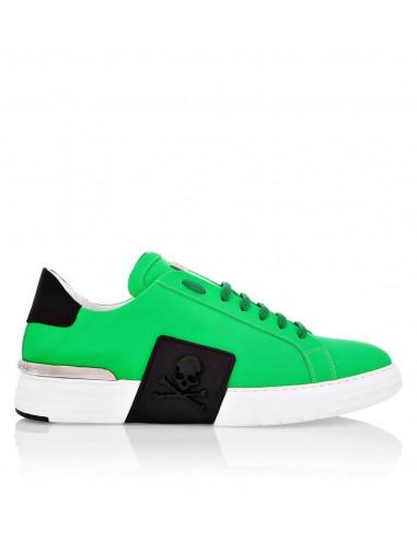 Philipp Plein Phantom Kick$ Rubberized Leather Sneakers em altamoda.shop - F19S MSC2276 PLE008N