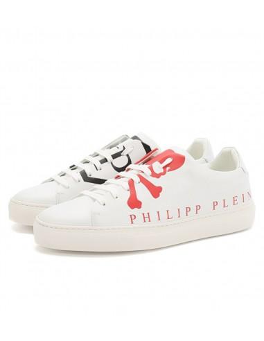 Philipp Plein Sneakers com Crânio e Logotipo em altamoda.shop - P19S MSC1924 PLE075N