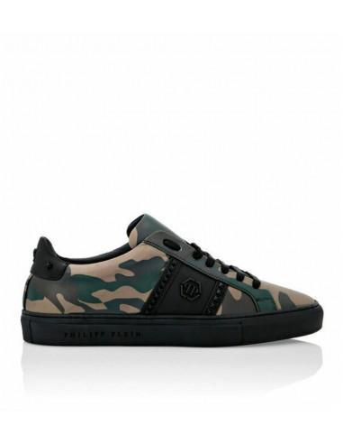 Philipp Plein Lo Top Sneakers Patrón de camuflaje en altamoda.shop - A19S MSC2518 PLE067N