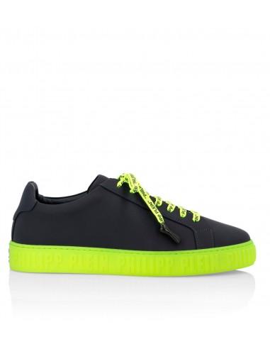 Philipp Plein Sneakers with Yellow Neon Color em altamoda.shop - S19S MSC2005 PLE008N