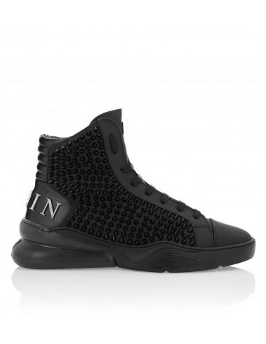 Philipp Plein High Sneakers met gekleurde klinknagels bij altamoda.shop - P19S MSC2196 PLE008N
