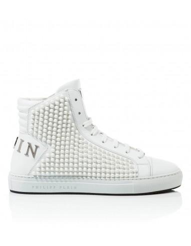 Philipp Plein High Sneakers met gekleurde klinknagels bij altamoda.shop - A17S MSC0868 PLE075N