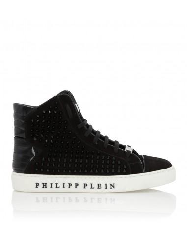 Zapatillas de ante de Philipp Plein High Top en altamoda.shop - F18S MSC1422 PLE009N