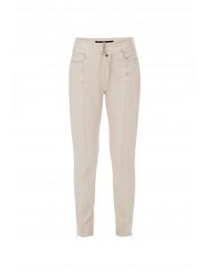 Elisabetta Franchi artificial leather trousers in vanilla
