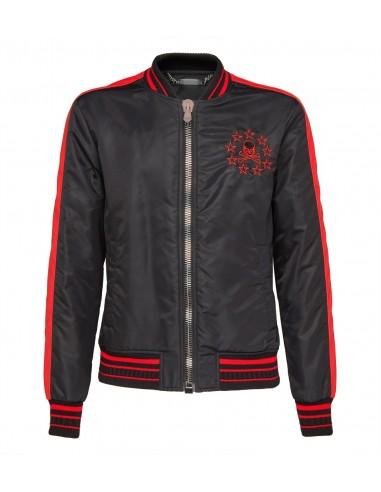 Nylon Jacket with Skull on the back