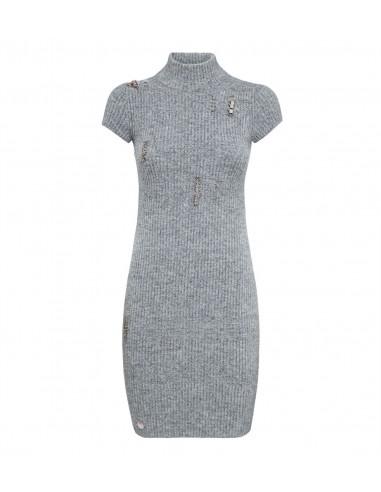 Philipp Plein Short Dress with Piercings at altamoda.shop - A18C WKG0188 PKN002N