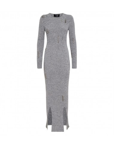 Philipp Plein Long Dress with Piercings at altamoda.shop - A18C WKG0187 PKN002N