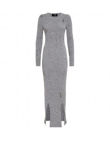 Philipp Plein Long Dress met Piercings bij altamoda.shop - A18C WKG0187 PKN002N