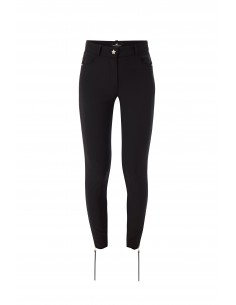 Elisabetta Franchi Trousers with Zips in Black
