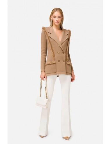 Woollen double-breasted blazer