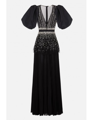 Elisabetta Franchi Lange jurk met gezwollen mouwen - altamoda.shop - AB98306E2