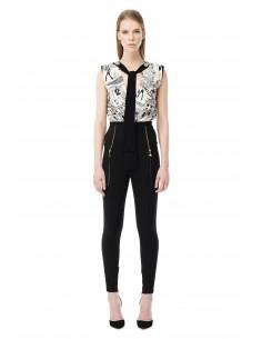 Elisabetta Franchi High Waist Trousers with golden Zips