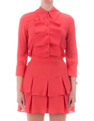 Elisabetta Franchi Mini sukienka z falbankami - altamoda.shop - AB06306E2