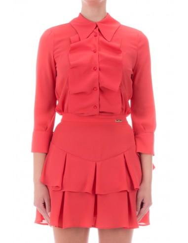 Elisabetta Franchi Mini vestido com rufos - altamoda.shop - AB06306E2