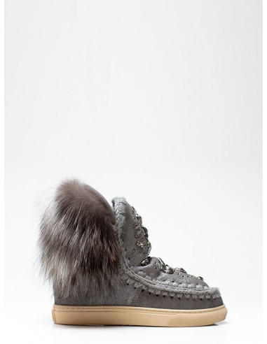 Gray Mou Boots with Rhinestones