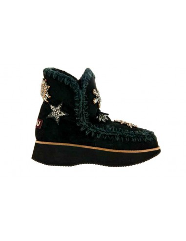 Mou Boots Running Eskimo 18 Star Patches Black at altamoda.shop - MU.FW141003A