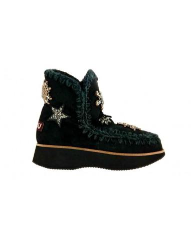 Mou bottes Running Esquimaux 18 Star Patches Noir chez altamoda.shop - MU.FW141003A