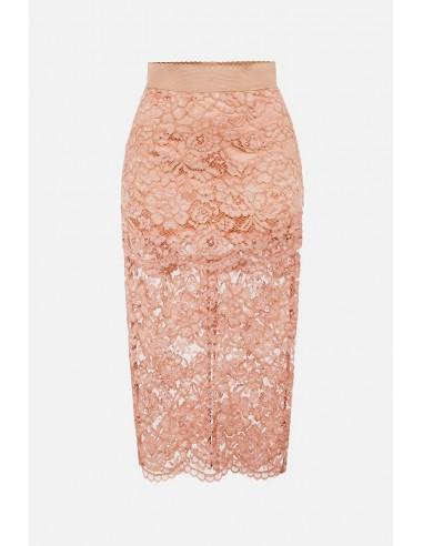 Elisabetta Franchi Lace pencil skirt - altamoda.shop - GO43307E2