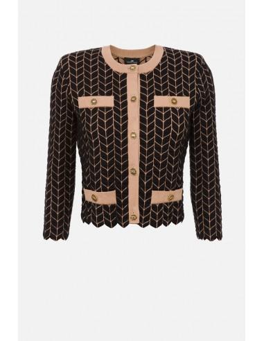 Elisabetta Franchi Vest met verouderde gouden knopen - altamoda.shop - MK63S06E2