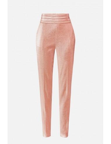 Elisabetta Franchi Lurex cigarette trousers - altamoda.shop - PA36707E2