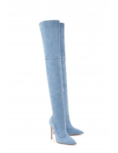 Elisabetta Franchi Suede Leather Over-knee-boots