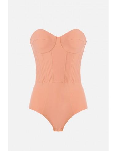 Elisabetta Franchi Preformed bodysuit with sweetheart neckline - altamoda.shop - BO96806E2