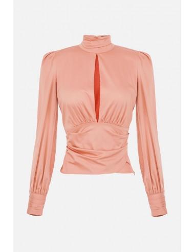 Blusa Elisabetta Franchi con mangas abullonadas - altamoda.shop - CA30907E2